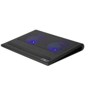 """Notebook állvány, hűtőventilátorral, 17,3"""", RIVACASE """"5557"""", fekete"""