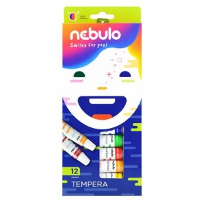 Tempera készlet, 12 darabos, NEBULO