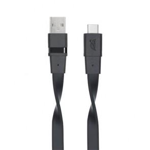 "USB kábel, USB - USB-C 3.0, 1,2 m, RIVACASE ""6003 BK12"", fekete"