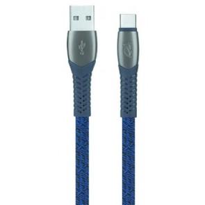 """USB kábel, USB - USB-C, 1,2 m, RIVACASE """"PS6102"""", kék"""