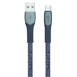 """USB kábel, USB - USB-C, 1,2 m, RIVACASE """"PS6102"""", szürke"""