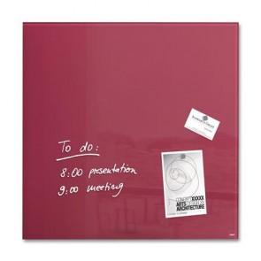 """Mágneses üvegtábla, 48x48 cm, SIGEL """"Artverum® """", bogyó piros"""