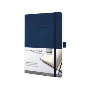 """Jegyzetfüzet, exkluzív, A5, vonalas, 194 oldal, puhafedeles, SIGEL """"Conceptum"""", éjkék"""