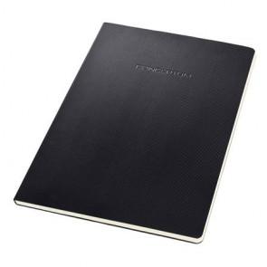 """Füzet, exkluzív, A4, kockás, 60 lap, keményfedeles, SIGEL """"Conceptum"""", fekete"""