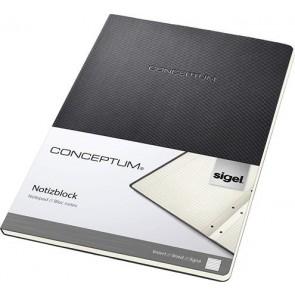 """Füzet, exkluzív, A4, vonalas, 60 lap, keményfedeles, SIGEL """"Conceptum"""", fekete"""