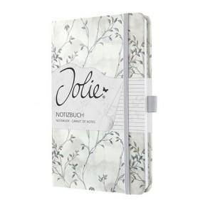 """Jegyzetfüzet, exkluzív, 135x203 mm, vonalas, 87 lap, keményfedeles, SIGEL """"Jolie"""", Blue Romance"""