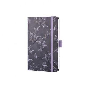 """Jegyzetfüzet, exkluzív, 95x150x16 mm, vonalas, 174 oldal, SIGEL """"Jolie"""", Mystic Butterflies"""