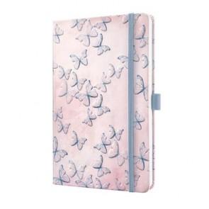 """Jegyzetfüzet, exkluzív, 135x203x16 mm, vonalas, 174 oldal, SIGEL """"Jolie"""", Dreamy Butterflies"""
