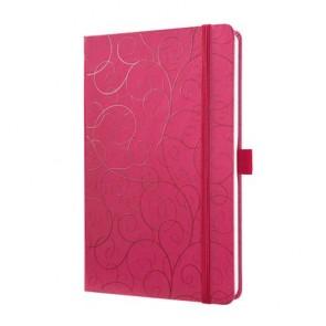 """Jegyzetfüzet, exkluzív, 135x203x16 mm, vonalas, 174 oldal, SIGEL """"Jolie"""", Purple Elegance"""