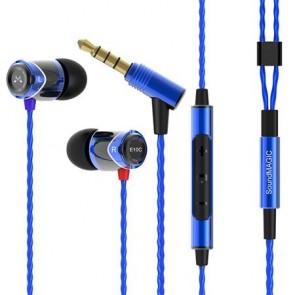 """Fülhallgató, mikrofon, hangerőszabályzó, fém, SOUNDMAGIC """"E10C"""", kék-fekete"""
