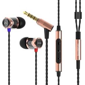 """Fülhallgató, mikrofon, hangerőszabályzó, fém, SOUNDMAGIC """"E10C"""", fekete-arany"""