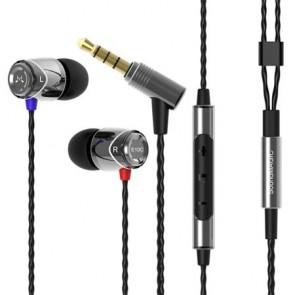 """Fülhallgató, mikrofon, hangerőszabályzó, fém, SOUNDMAGIC """"E10C"""", ezüst-fekete"""
