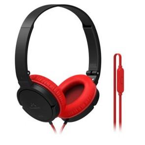 """Fejhallgató, vezetékes, beépített mikrofonnal, 3,5 mm jack, SOUNDMAGIC """"P11S"""", fekete-piros"""