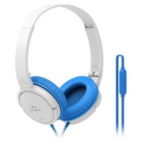 """Fejhallgató, vezetékes, beépített mikrofonnal, 3,5 mm jack, SOUNDMAGIC """"P11S"""", fehér-kék"""