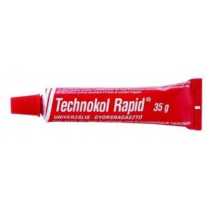 """Ragasztó, folyékony, 35 g, TECHNOKOL """"Rapid"""", piros"""