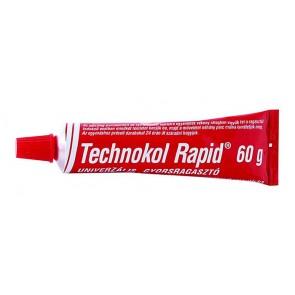 """Ragasztó, folyékony, 60 g, TECHNOKOL """"Rapid"""", piros"""