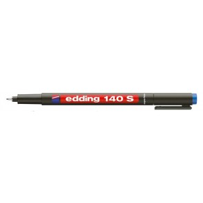 "Alkoholos marker, OHP, 0,3 mm, EDDING ""140 S"", kék"