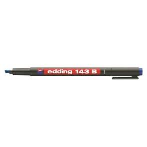 "Alkoholos marker, OHP, 1 mm, EDDING ""143 B"", kék"