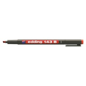 "Alkoholos marker, OHP, 1 mm, EDDING ""143 B"", piros"