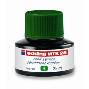 """Utántöltő alkoholos markerhez, EDDING """"MTK 25"""", zöld"""