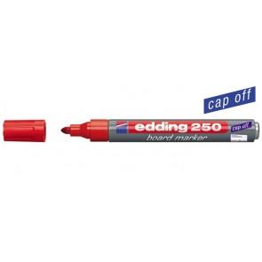 """Tábla- és flipchart marker, 1-3 mm, kúpos, EDDING """"250"""", piros"""