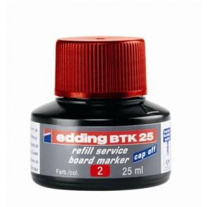 """Utántöltő tábla- és flipchart markerhez, EDDING """"BTK 25"""", piros"""