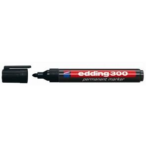 "Alkoholos marker, 1,5-3 mm, kúpos, EDDING ""300"", fekete"