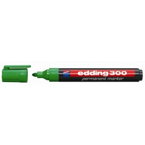 "Alkoholos marker, 1,5-3 mm, kúpos, EDDING ""300"", zöld"