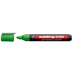 """Alkoholos marker, 1-5 mm, vágott, EDDING """"330"""", zöld"""