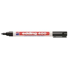 """Alkoholos marker, 1 mm, EDDING """"400"""", fekete"""