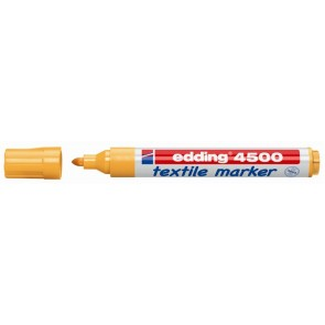 "Textilmarker, 2-3 mm, kúpos, EDDING ""4500"", neon narancssárga"