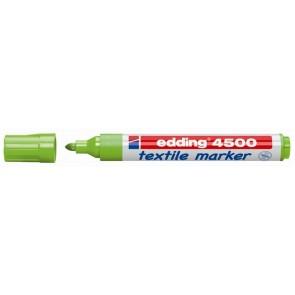 """Textilmarker, 2-3 mm, kúpos, EDDING """"4500"""", világoszöld"""