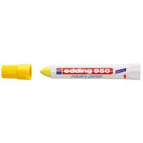 "Jelölő marker, 10 mm, kúpos, EDDING ""950"", sárga"