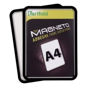 """Mágneses tasak, öntapadós háttal, A4, TARIFOLD """"Magneto"""", fekete"""