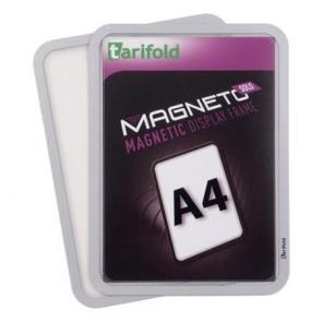 """Mágneses tasak, mágneses háttal, A4, TARIFOLD """"Magneto Solo"""", ezüst"""