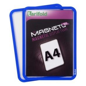 """Mágneses tasak, mágneses háttal, A4, TARIFOLD """"Magneto Solo"""", kék"""