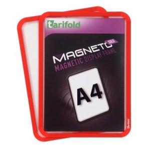 """Mágneses tasak, mágneses háttal, A4, TARIFOLD """"Magneto Solo"""", piros"""