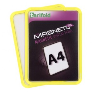 """Mágneses tasak, mágneses háttal, A4, TARIFOLD """"Magneto Solo"""", sárga"""