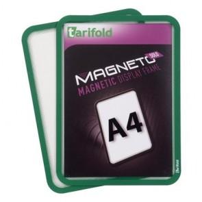 """Mágneses tasak, mágneses háttal, A4, TARIFOLD """"Magneto Solo"""", zöld"""