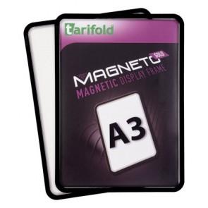 """Mágneses tasak, mágneses háttal, A3, TARIFOLD """"Magneto Solo"""", fekete"""
