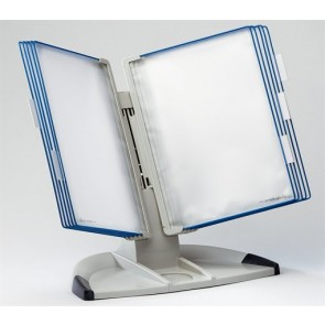 """Bemutatótábla tartó, asztali, A4, 10 férőhelyes, TARIFOLD """"Design"""", kék"""