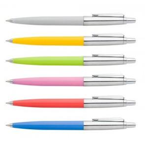 """Golyóstoll, 0,8 mm, nyomógombos, vegyes tolltest, ICO """"Polo"""", kék"""