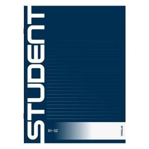 """Füzet, tűzött, A4, vonalas, 32 lap, ICO """"Student"""""""