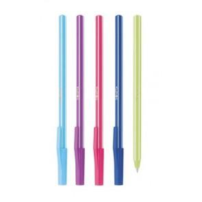"""Golyóstoll készlet, 0,7 mm, kupakos, 5 különböző testszín, ICO """"Signetta Mix"""", kék"""