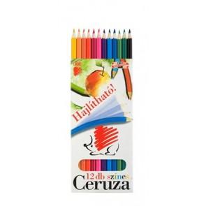 """Színes ceruza készlet, hatszögletű, hajlékony, ICO """"Süni"""", 12 különböző szín"""