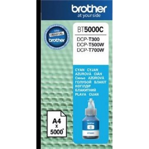 BT5000C Tinta DCP T-300, 500W, 700W nyomtatókhoz, BROTHER, cián, 5k