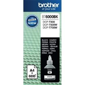 BT6000BK Tinta DCP T-300, 500W, 700W nyomtatókhoz, BROTHER, fekete, 6k
