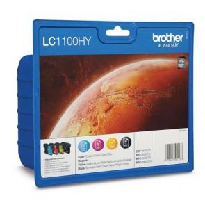 LC1100HYP Tintapatron DCP 185C, 6690CW nyomtatókhoz, BROTHER b+c+m+y, 1*900 o.+3*750 o.