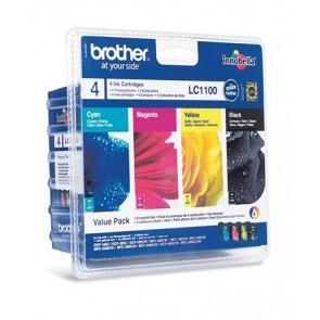 LC1100P Tintapatron DCP 185C, 6690CW nyomtatókhoz, BROTHER b+c+m+y, 1*450 o.+3*325 o.