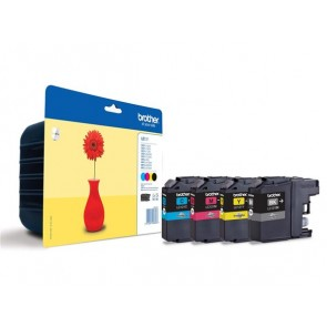 LC121BCMY Tintapatron multipack DCP-J132W nyomtatóhoz, BROTHER, b+c+m+y, 4*300 oldal
